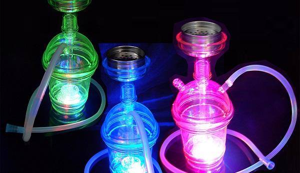 cachimbas con luces con luces led